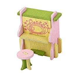 Magideal Dollhouse Miniature Furniture Wooden Toy Kids Living Room Set