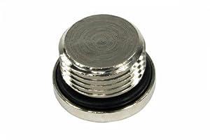 """3/8"""" Thread Allen Head Blanking Plug : Silver"""