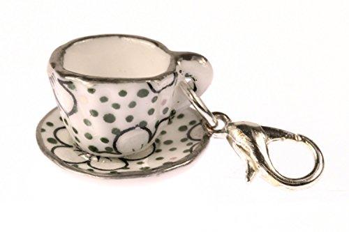 Kaffeetasse Tasse Charm Zipper Pull Anhänger Bettelanhänger Miniblings Punkte