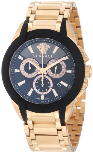 Versace Men's M8C80D008 S080 Character Rose Gold Ion-Plated Stainless Steel Chronograph Date Watch