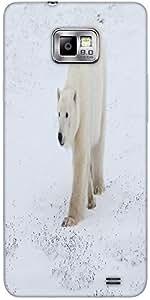 Snoogg Polar Bear Protective Case Cover For Samsung Galaxy S2