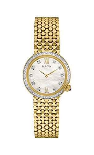 Bulova 98W218 Ladies Diamond Gold Plated Bracelet Watch
