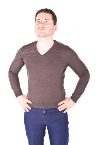 Esprit Men's Brown Cotton Cashmere Sweater Jumper Pullover XS size
