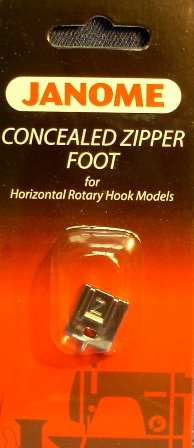 Review Janome Sewing Machine Concealed Zipper Foot-200333001