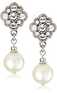 1928 Bridal Amore Dazzling Pearl Drop Earrings