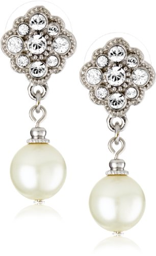 1928 Bridal Amore Dazzling Pearl Drop Earrings