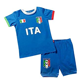 Buy CM-CG Kids 2014 Italy Home World Cup Football Shirt Jersey & Shorts Set 1-7 Y by CM-CG