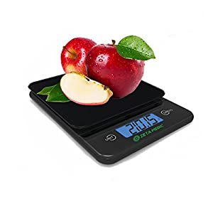Zeta Meta Digital Food Scale (Wireless) - Portion Control Kitchen Accessory for Measuring Grams & Ounces (Up to 5kg) - Supports Healthy Weight Loss - Easy-to-Read LCD Display