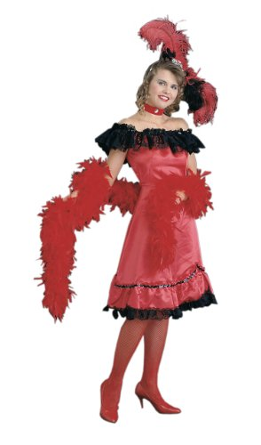 Saloon Girl Adult Red Dress Halloween Costume Size Small