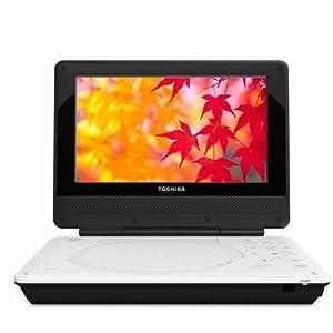 Toshiba SDP95S Portable DVD Player - 9 Inches Display - Black, White