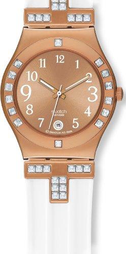 スウォッチ (swatch) 腕時計 IRONY MEDIUM FANCY ME PINK GOLD YLG403 2010 Preview Collection レディース [正規輸入品]