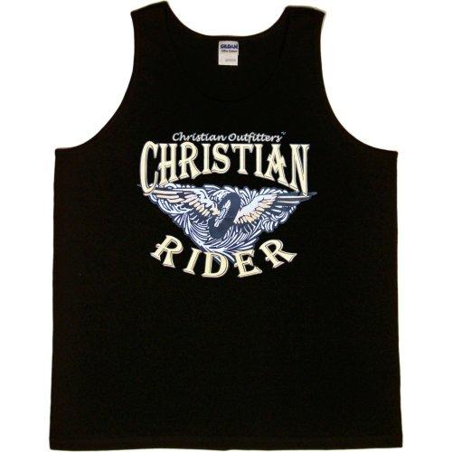 MENS TANK TOP : BLACK - MEDIUM - Christian Outfitters - Christian Rider - Biker Inspirational