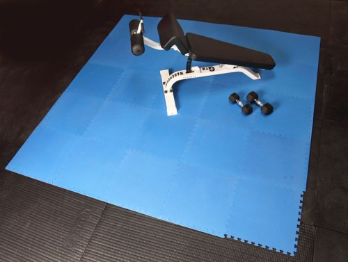 Gym Exercise Interlocking Mats 128sqft Blue