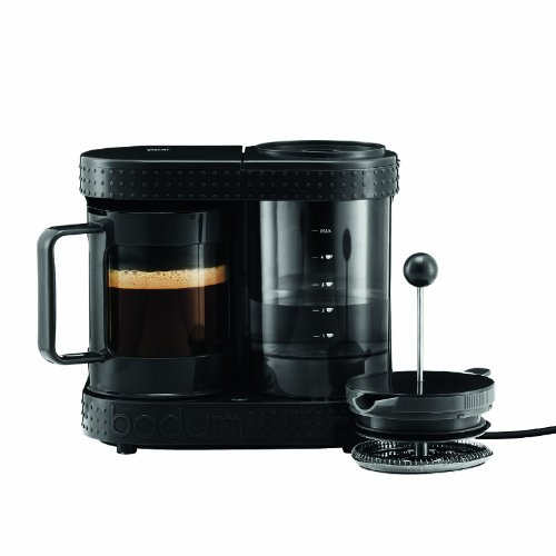 Bistro 4-Cup Electric French Press Coffeemaker, 0.5-Liter 17-Ounce, Black