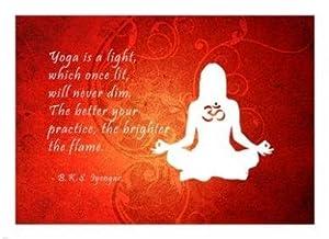 Yoga Quote (22 x 16) Poster Print