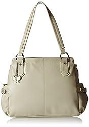 Butterflies Women's Handbag (Cream) (BNS 0343CRM)