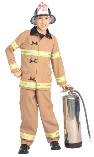 Costume Co Young American Heroes Fire Fighter Fireman Kids Costume (Medium)