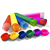 Silicone Ice Pop Molds and Ice Pop Maker, Set of 6, Assorted Colors, Plus 60 Recipes Ebook