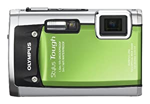 Olympus Stylus Tough 6020 14MP Digital Camera with 5x Wide Angle Zoom and 2.7 inch LCD (Green) (Old Model)