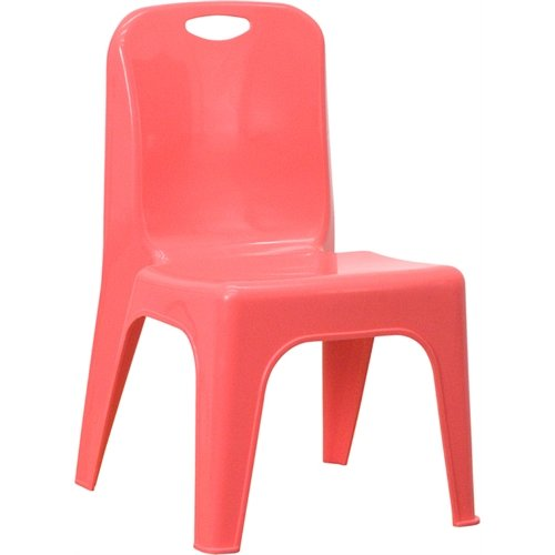 Flash Furniture Yu-Ycx-011-Red-Gg Red Plastic Stackable School Chair With Carrying Handle And 11-Inch Seat Height