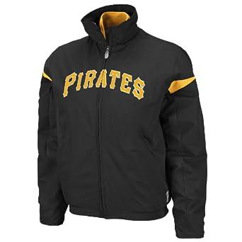 MLB Pittsburgh Pirates Triple Peak Ladies Jacket, Pro Black Pro Gold by Majestic