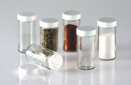 Glass Spice Jars- Set of Six Glass Spice Bottles (Replacement Spice Rack Jar compare prices)