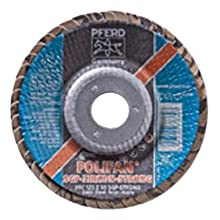 PFERD Polifan SGP STRONG Abrasive Flap Disc, Type 29, Round Hole, Phenolic Resin Backing, Zirconia Alumina