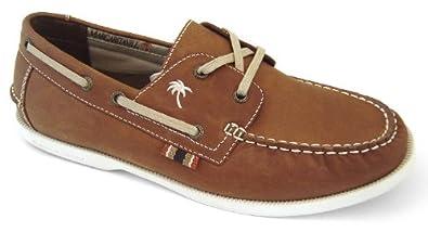 Margaritaville Down Islander Mens Boat Shoes Espresso brown 13 M