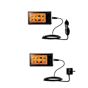 Car and Wall Charger Essential Kit for the Creative ZEN X-Fi2 - uses Gomadic TipExchange Technology