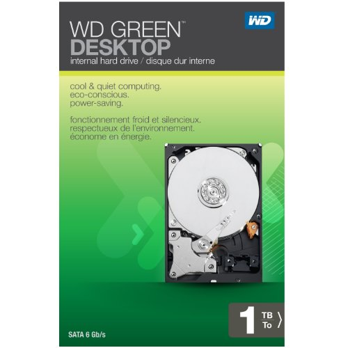 Western Digital Caviar Green 1 TB SATA II 32 MB Cache 3.5-Inch Internal Desktop Hard Drive Retail Kit - WDBAAY0010HNC-NRSN