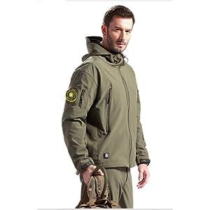 (ワンチャー) WANCHER ミリタリー 高防水 ジャケット フード付 ソフトシェル 軍用 ジャケット