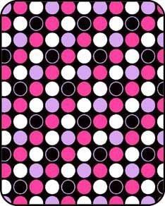 Regal Comfort Pink Polka Dot Print Acrylic Mink Crib Baby Blanket