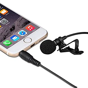 Condenser Microphone - Lavalier Lapel Clip on Omnidirectional Smartphone Mic With UNIVERSAL Compatibility - Apple iPhone, iPad, Samsung Android & Windows.Perfect for Youtube Podcasting
