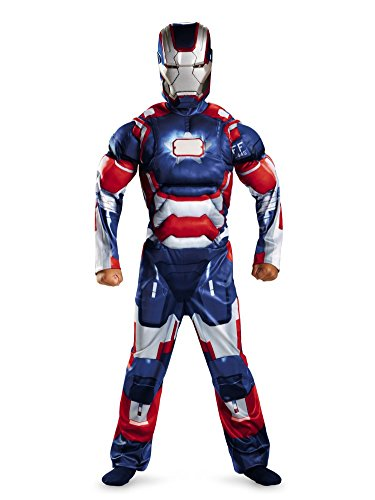 Marvel Comics Boys Iron Man 3 Iron Patriot Muscle Costume with Mask