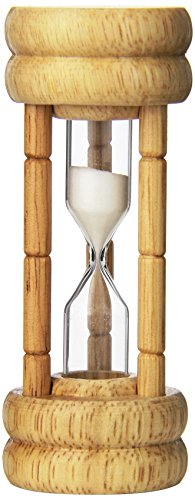 Harold Import Company 3 min Kitchen Egg and Tea Vintage Style Hourglass with Sand Timer, Brown (Three Minute Sand Timer compare prices)