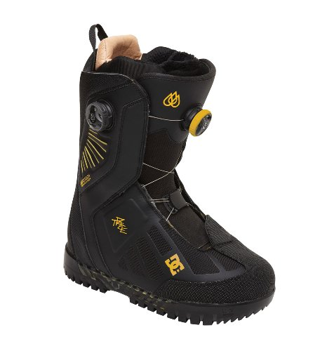 DC Men's Travis Rice Snowboard Boot,Black/Yellow,10 US/10 M US