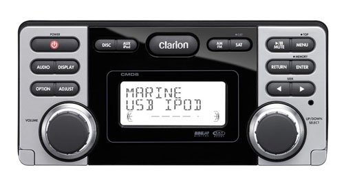 Clarion CMD6 Marine CD/MP3/WMA Receiver with USB Port (Discontinued by Manufacturer)
