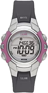 Timex Women's T5J151 1440 Sports Black Resin and Purple and Gray Digital Watch
