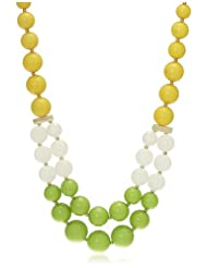 Bansri Choker Necklace For Women (Yellow And Green) (N6109 YELL/GRN - J70)