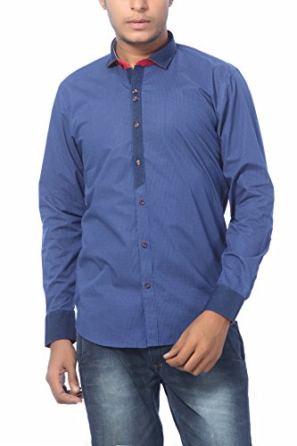 Roger Clothier Men's Printed Slim Fit Casual Shirt