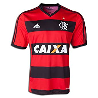 Amazon.com: adidas Flamengo Home Soccer Jersey, Black/Red, Size Adult