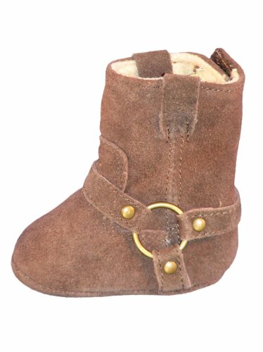 Brown Suede Harness Boots by Baby Deer - Buy Brown Suede Harness Boots by Baby Deer - Purchase Brown Suede Harness Boots by Baby Deer (Baby Deer, Apparel, Departments, Shoes, Children's Shoes, Infants & Toddlers, Girls)