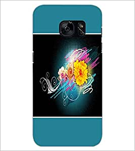 PrintDhaba Flower D-1328 Back Case Cover for SAMSUNG GALAXY S7 (Multi-Coloured)
