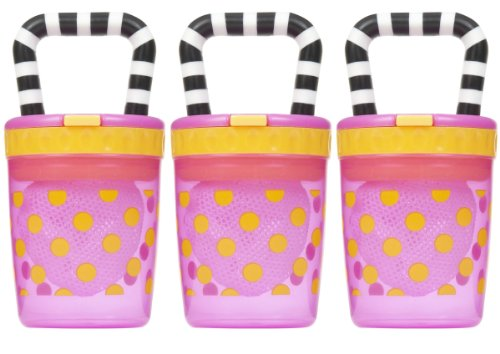Sassy Teething Feeder, 3 Pack - Pink front-1017756
