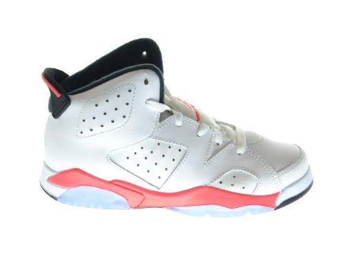 Air Jordan 6 Retro  Little Kids Basketball Shoes White/Infra