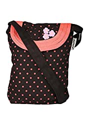 pick pocket Womens Sling Bag (Pink) (SLBROWPOLKA53)