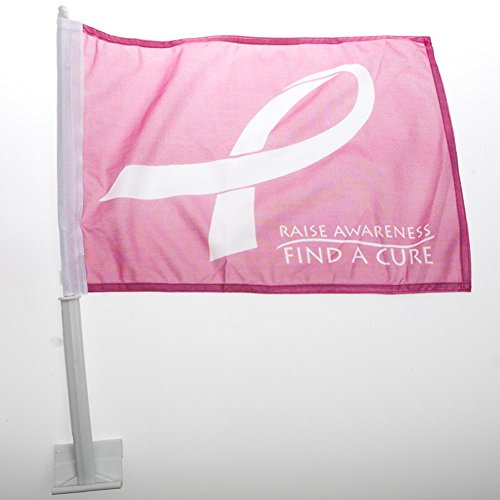 "12"" x 18"" Breast Cancer Awareness Car Flag"