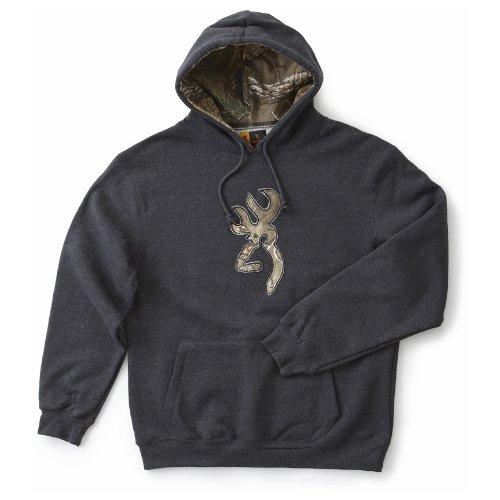 Find Bargain Men's Browning Realtree Camo Buckmark Hooded Sweatshirt