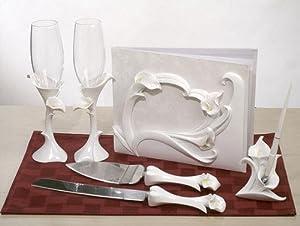 Cassiani Collection Calla Lily Theme Bridal Accessories Set C400403