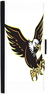 Snoogg American Bald Eagle Flying Graphic Snap On Hard Back Leather + Pc Flip...